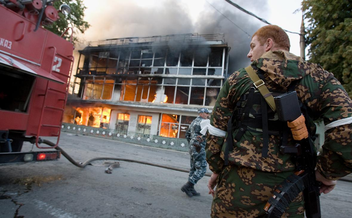 Последствия военных действий в Цхинвале. Август 2008 года