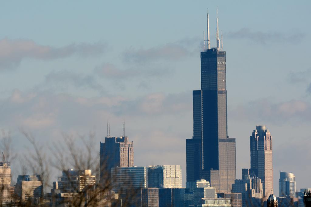№ 14. Уиллис-тауэр (Willis Tower)   Высота: 442,1 м, 108 этажей Место: Чикаго, США Назначение: офисы Архитектура: Skidmore, Owings & Merrill LLP (SOM) Дата строительства: 1974 год