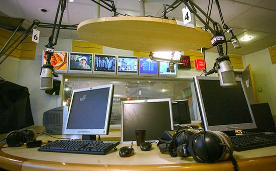 Эфирная студия радиостанции