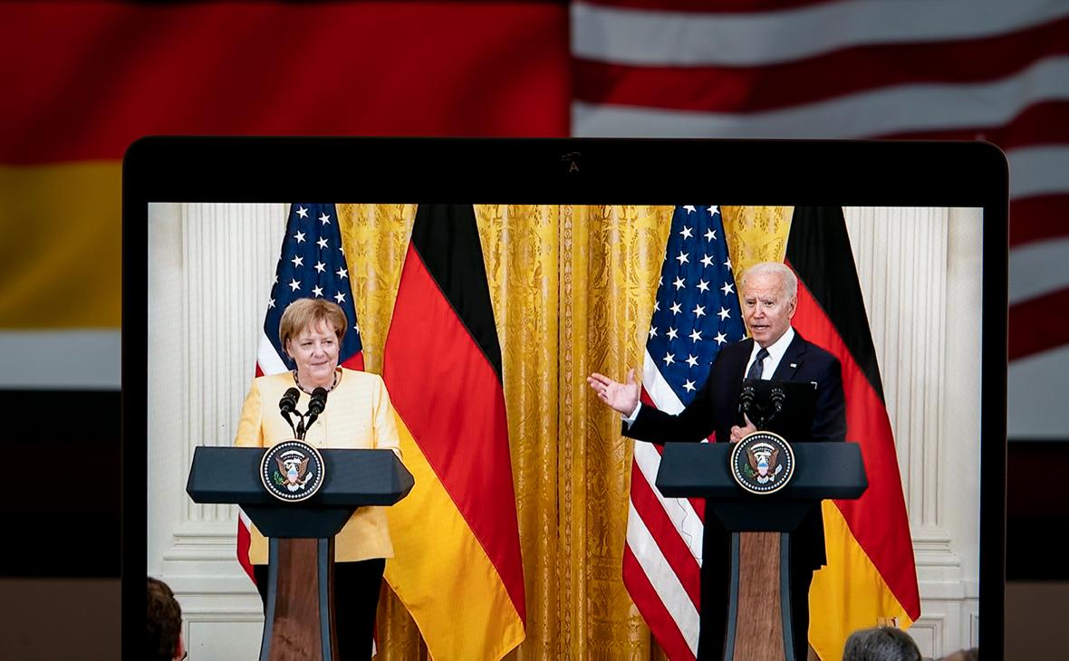 Ангела Меркель провела в Вашингтоне переговоры с Джо Байденом