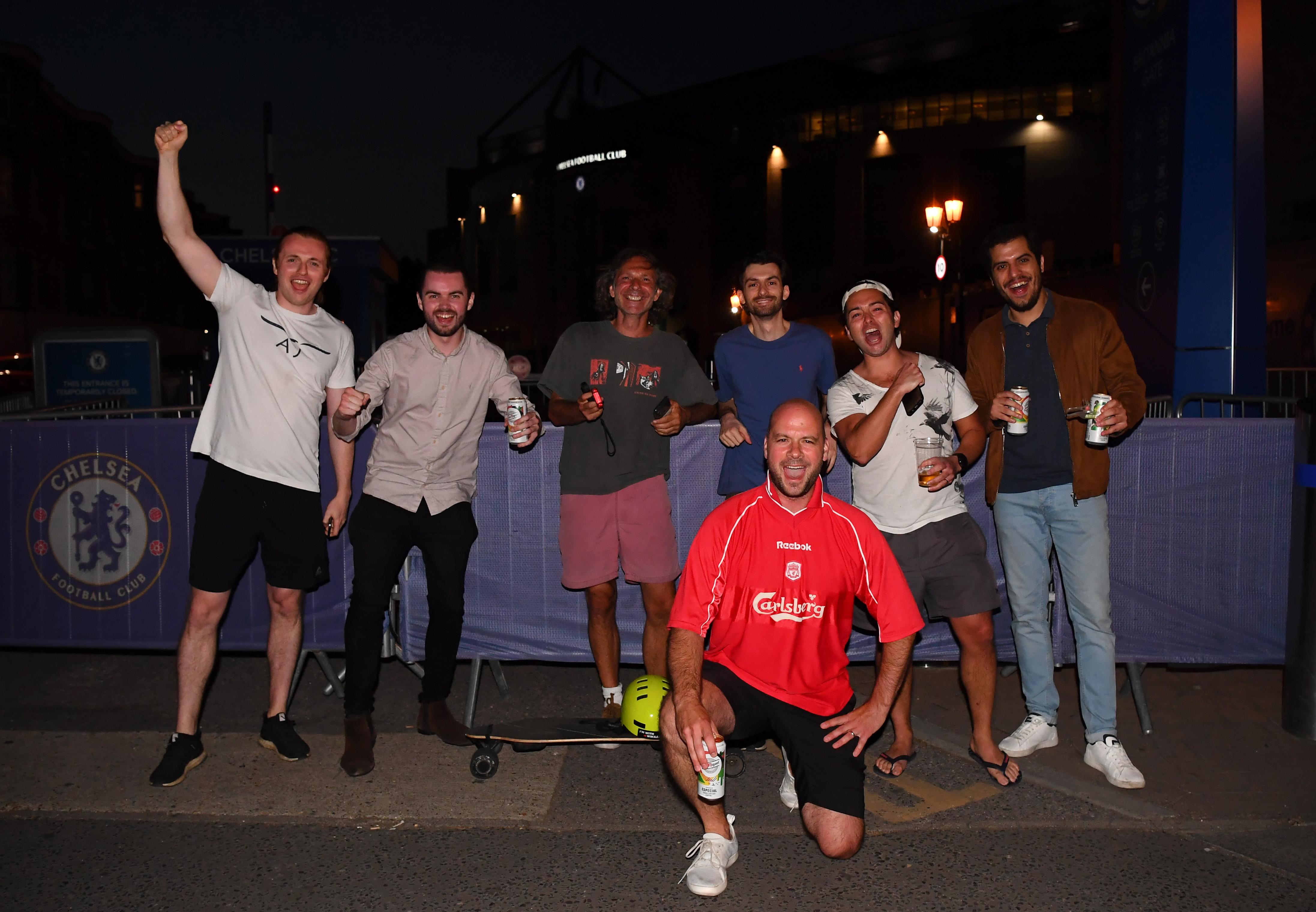 Болельщики «Ливерпуля» в Лондоне