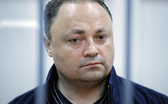 Мэр Владивостока Игорь Пушкарев во время рассмотрения ходатайства об аресте в Басманном суде