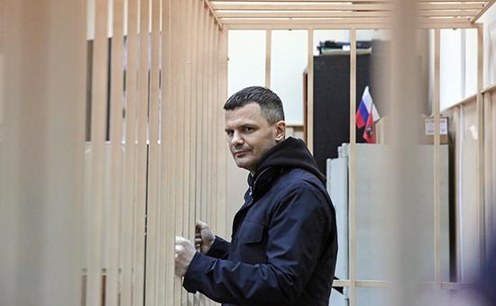 Владелец аэропорта Домодедово Дмитрий Каменщик назаседании Басманного суда, 19 февраля 2016 года