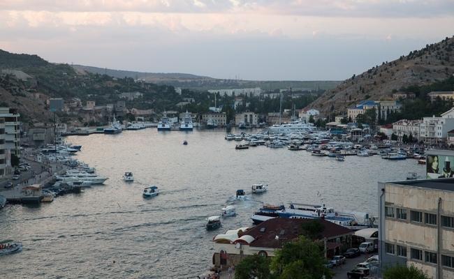 Республика Крым.Вид на бухту в Балаклаве.