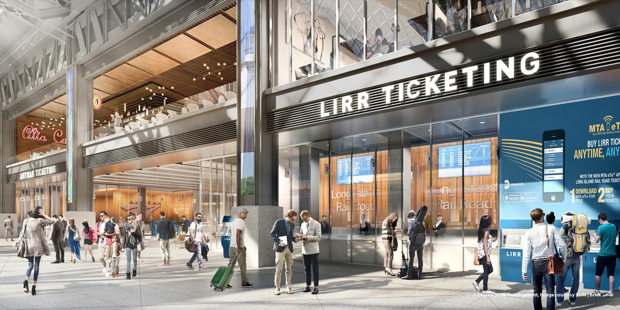 Девелоперами новой Penn Station станут компании Related Companies, Vornado Realty иSkanska. Все вместе они заплатят штату Нью-Йорк $600млн, атакже предоставят региональным властям часть площадей ирекламных пространств вздании вокзала