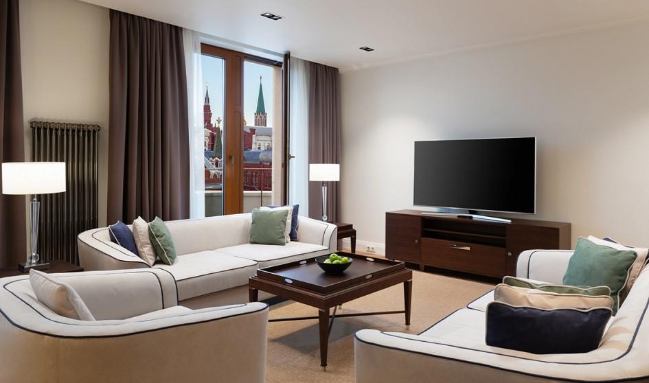 гостиная занимает наибольшую площадь в квартире