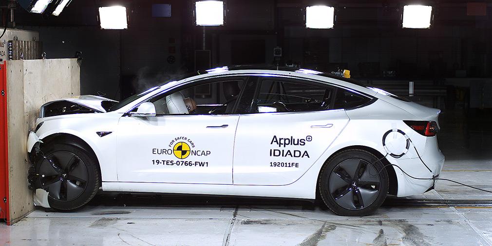Зарегистрирован рекорд Tesla Model 3 во время краш-тестов Euro NCAP