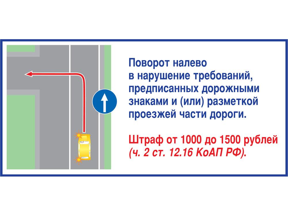 (МЦ штраф за нарушение знака уступи дорогу виду