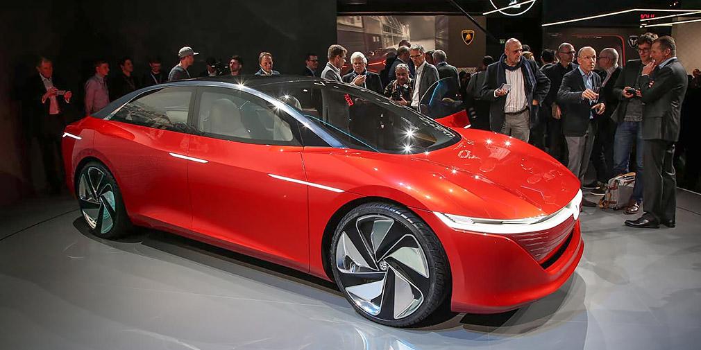 Volkswagen представил электрический беспилотник без руля и педалей