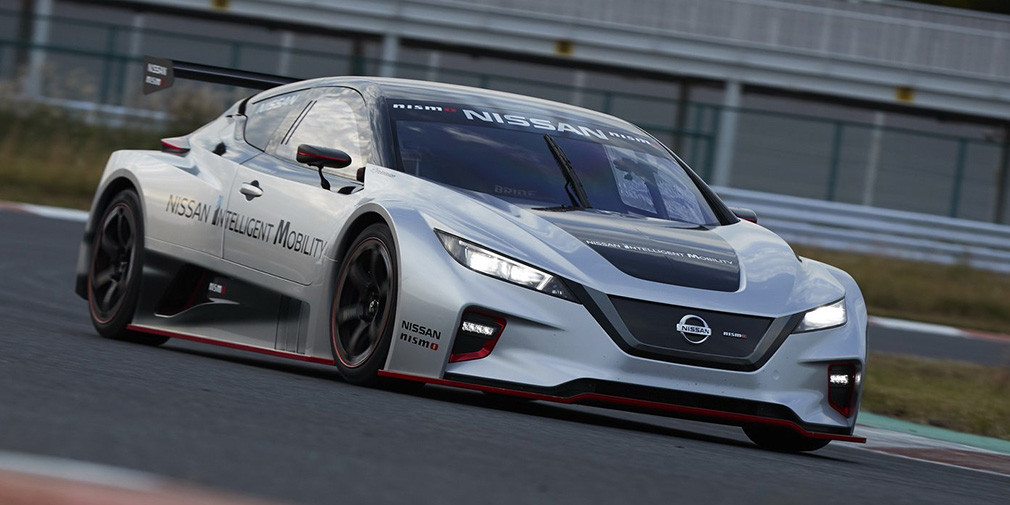 Новый Nissan Leaf превратили в гоночный электрокар