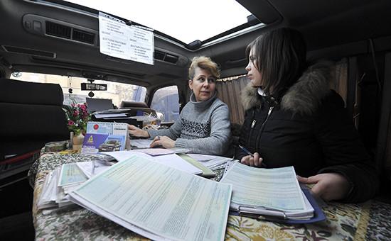 Оформление полиса ОСАГО в передвижном пункте автомобильного страхования