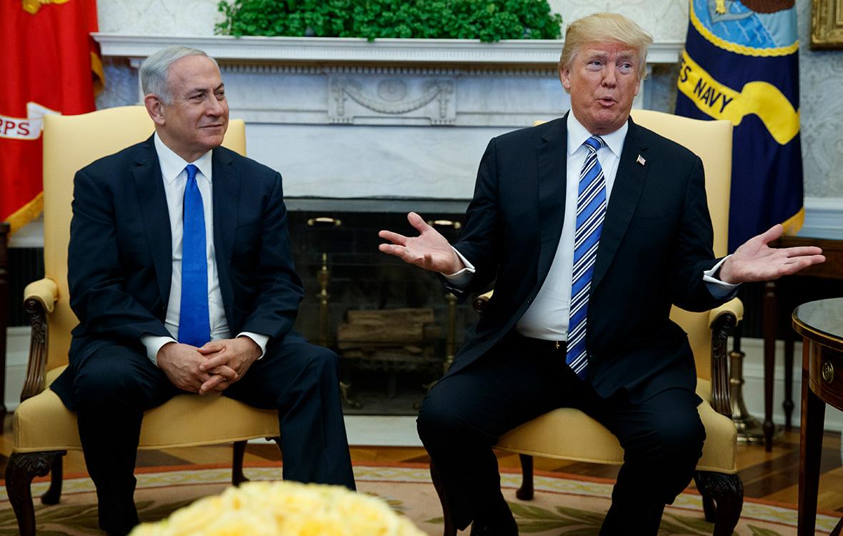 БеньяминНетаньяху (слева) и ДональдТрампво время встречи в Белом доме. 5 марта 2018 года