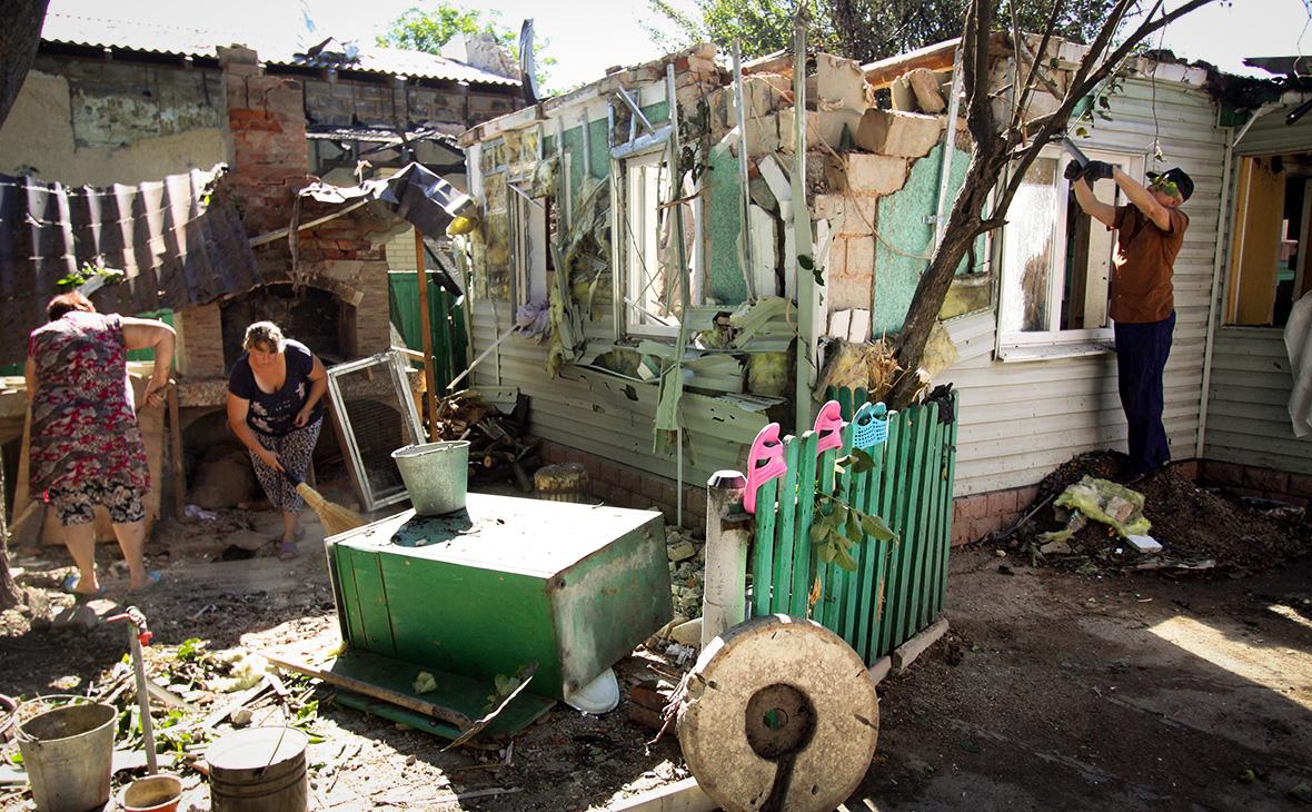 Кремль назвал условие выделения денег на восстановление Донбасса