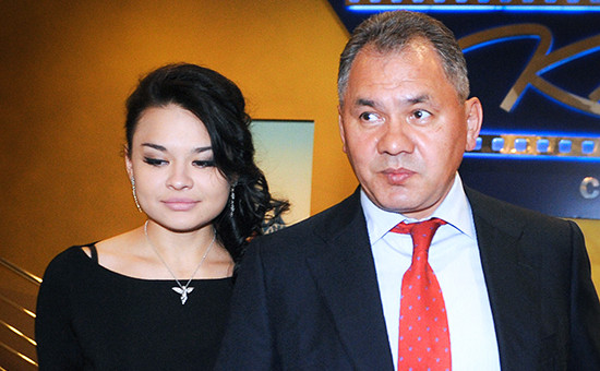 Министр обороны России Сергей Шойгус дочерью Ксенией