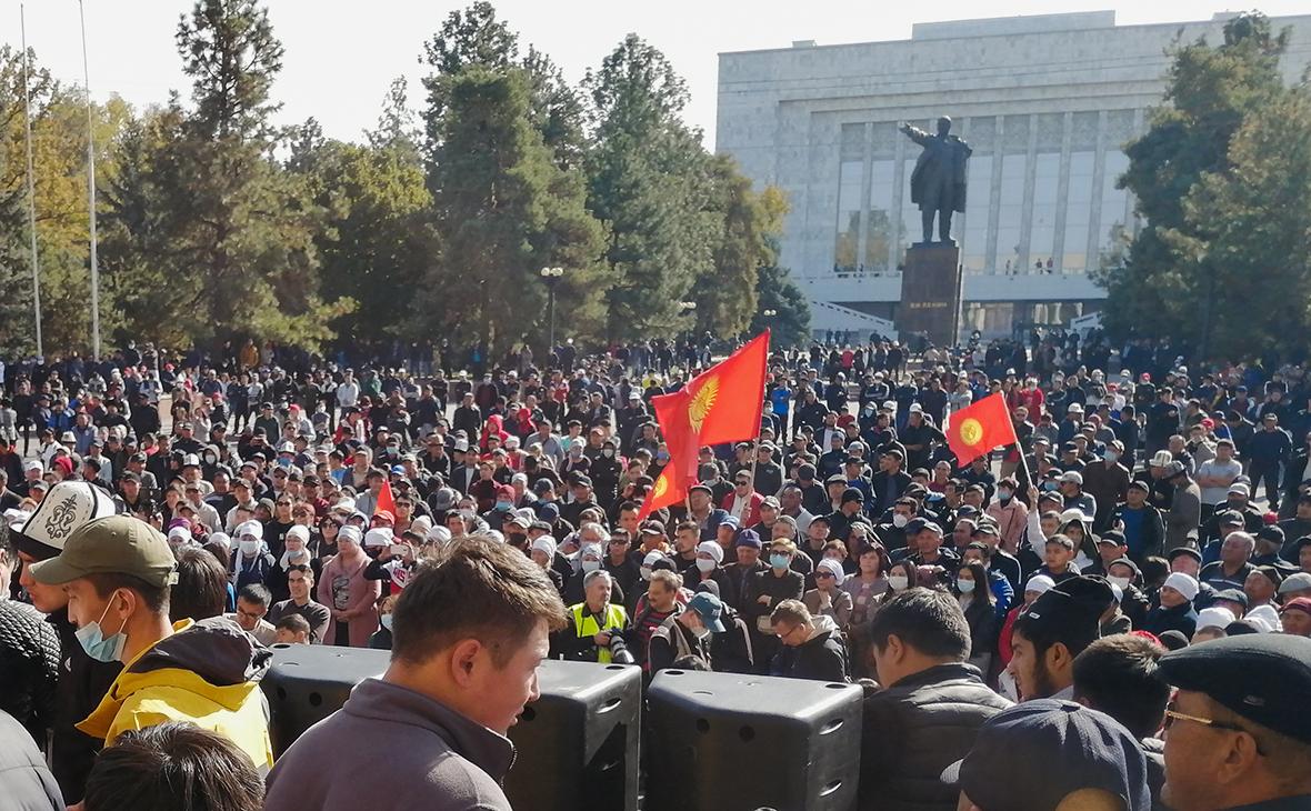 Акция сторонников нового премьер-министра Киргизии