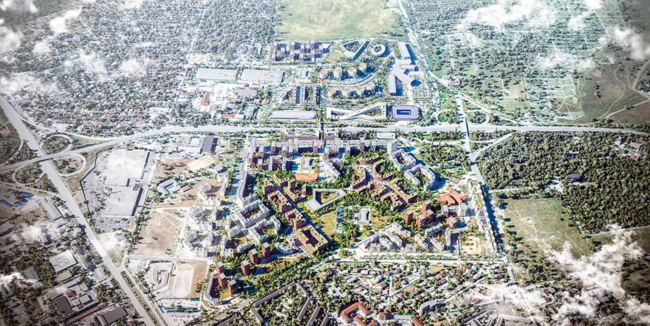 Визуализация планировки микрорайона «Крымская роза»