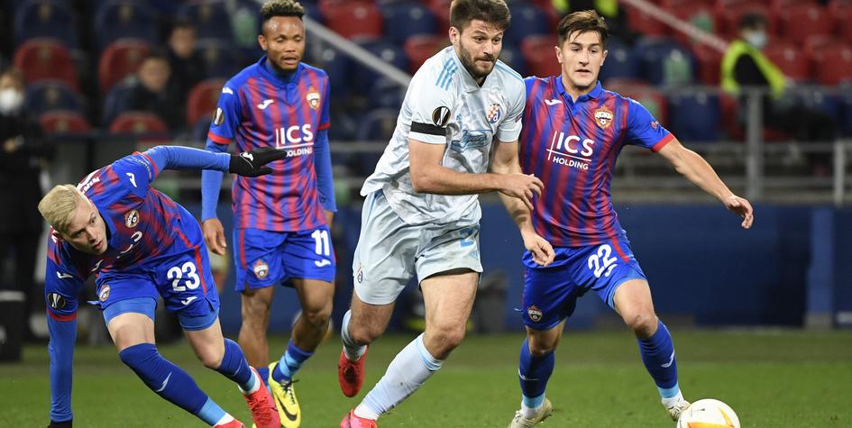 ЦСКА сыграл вничью с хорватским «Динамо» в домашнем матче Лиги Европы