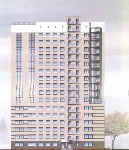 Эскиз 19-этажного общежития НГУЭУ