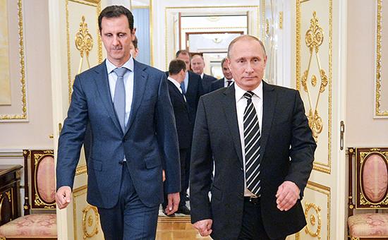 Президент России Владимир Путин ипрезидент Сирии Башар Асад