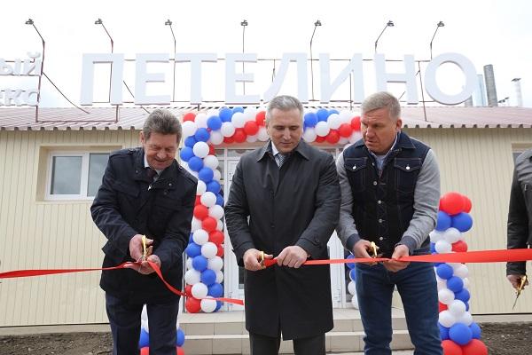 Депутат Облдумы Владимир Ковин, губернатор Александр Моор, инвестор Алексей Бобров (слева— направо)