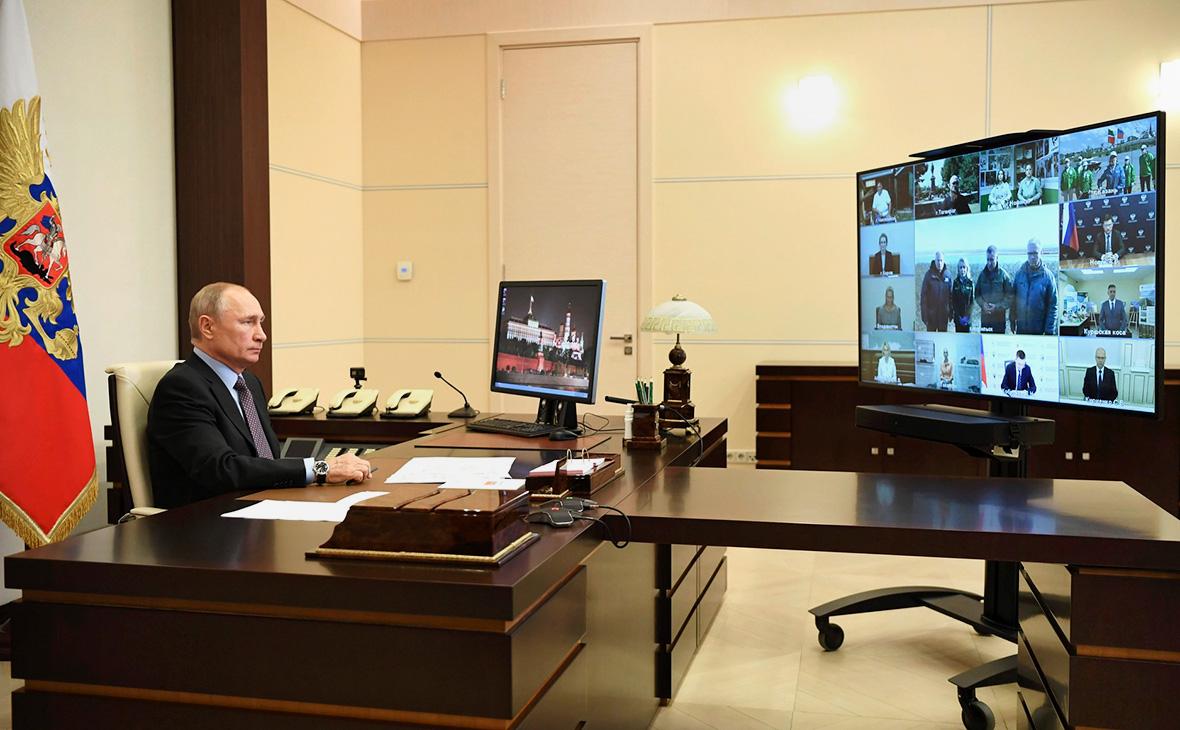 Встреча Владимира Путина с представителями общественных организаций, работающих в сфере экологии и зоозащиты (в режиме видеоконференции)
