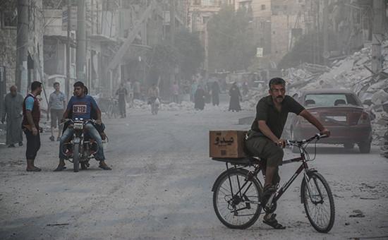 Вид на сирийский город Алеппо. Сентябрь 2016 года