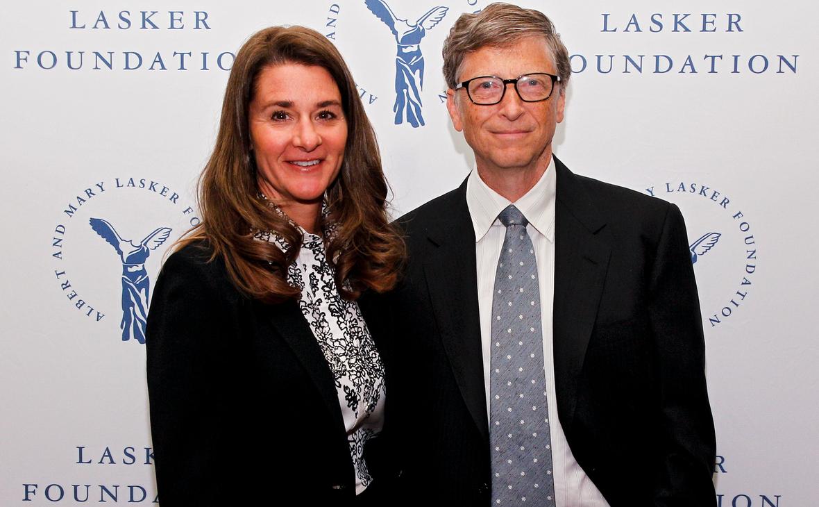 Билл и Мелинда Гейтс во время вручения им престижной премии Ласкера