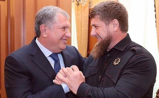 Игорь Сечин иРамзан Кадыров(слева направо)