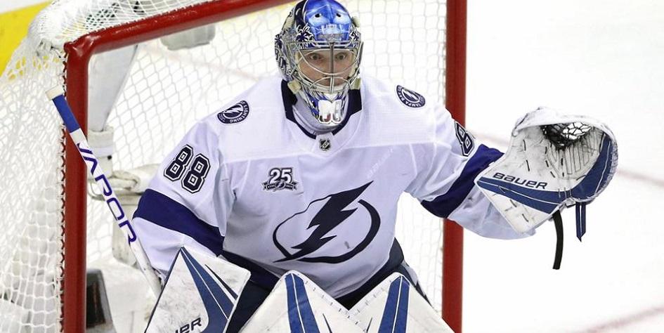 Российский голкипер второй раз подряд стал главной звездой в матче НХЛ