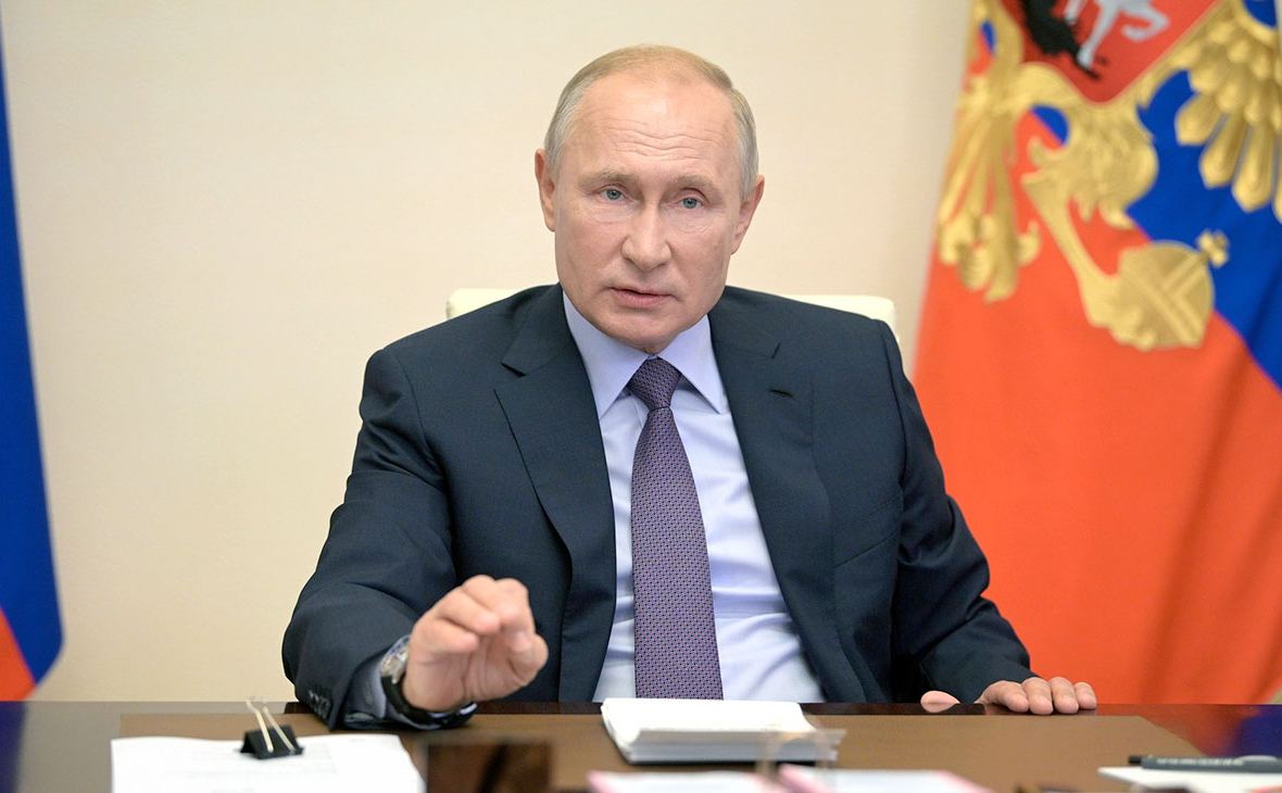 Владимир Путин во время заседания Совета по стратегическому развитию и нацпроектам