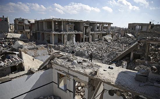 Вид на один из кварталов Дамаска. 9 февраля 2016 года