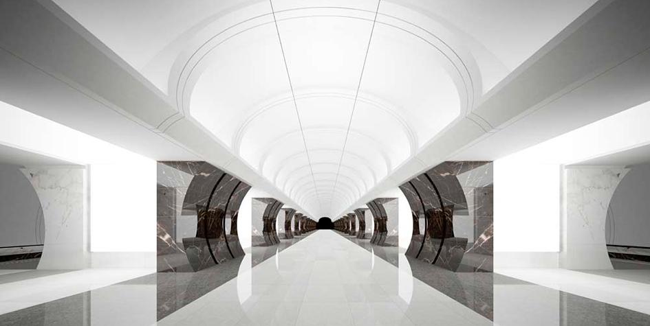 Проект дизайна интерьеров станции 2013 года