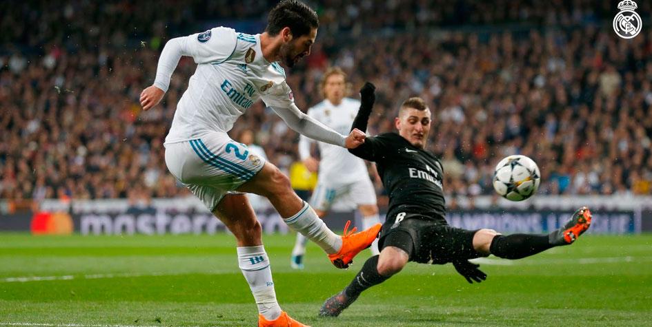 Дубль Роналду принес «Реалу» победу над «ПСЖ» в Лиге чемпионов