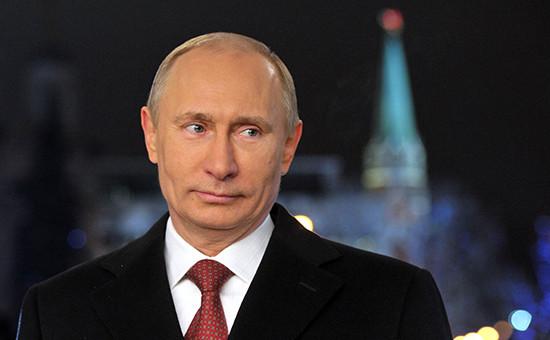 Президент России Владимир Путин во время новогоднего обращения