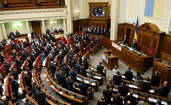 Депутаты напервом заседании весенней сессии Верховной рады Украины вКиеве