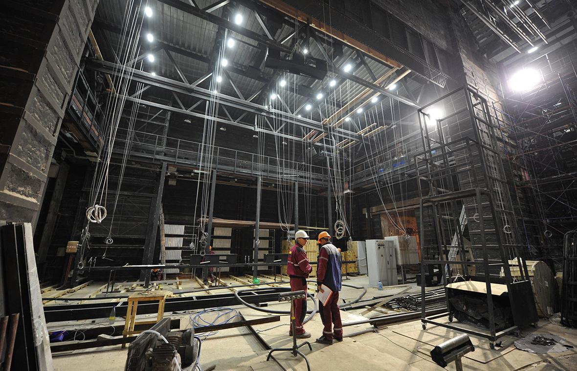 Реконструкция здания БДТ им. Товстоногова. 5 ноября 2013 года