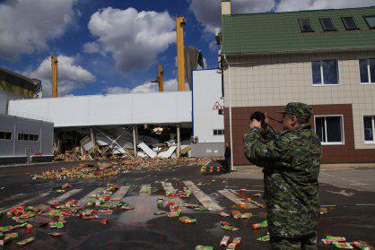 Последствия обрушения кровли склада компании PepsiCo в Лебедяни