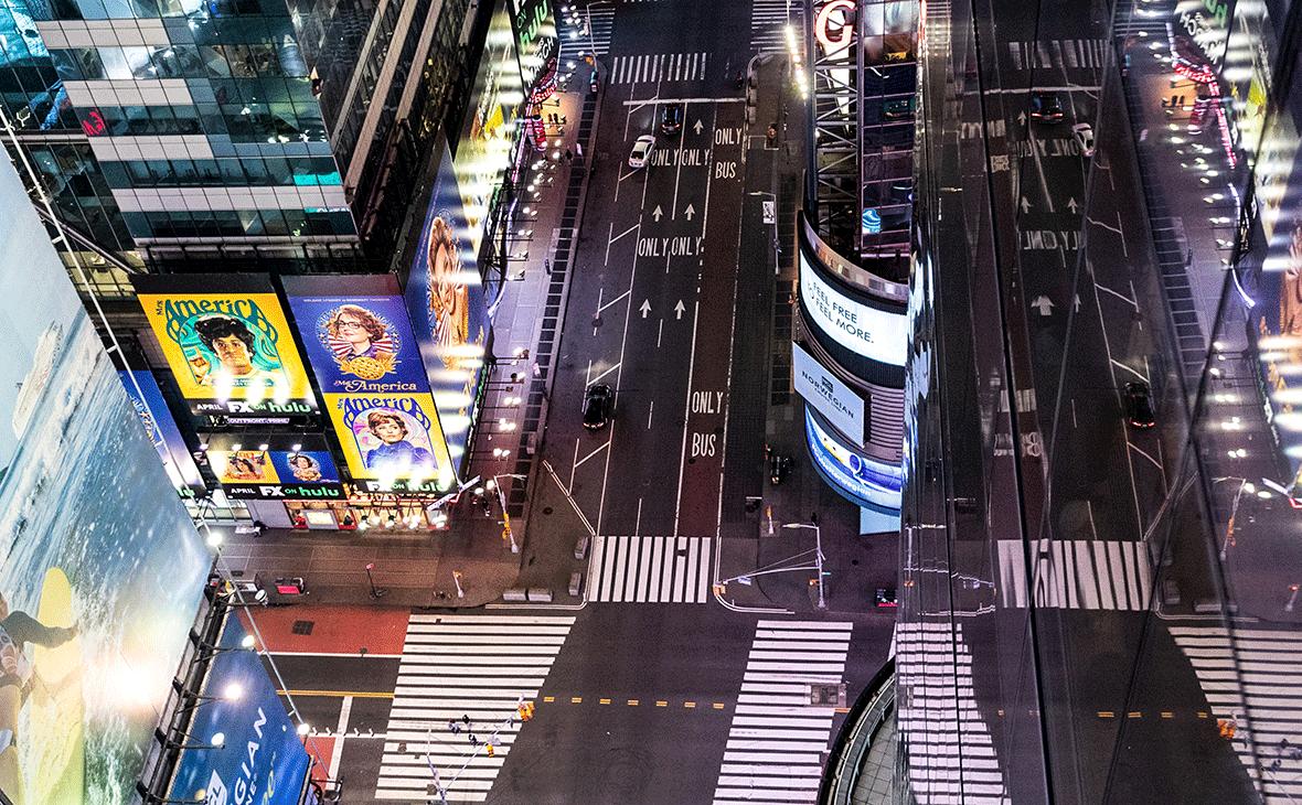 Улица Таймс-сквер в Нью-Йорке, США