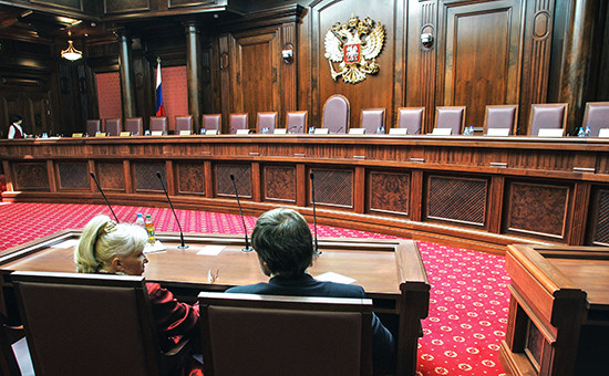 Зал заседанийКонституционного суда РФ