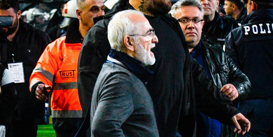 Прерванный из-за инцидента с Саввиди чемпионат Греции возобновится