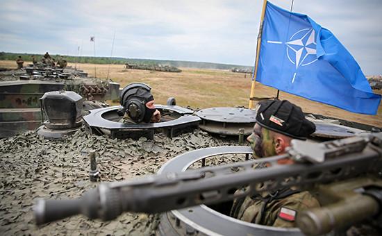 Солдаты НАТО вовремя учений Noble jump в Польше