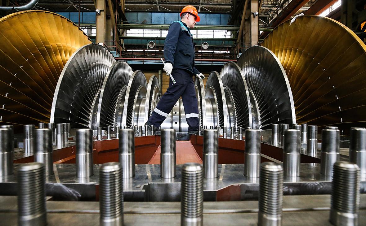 Производство турбин на заводе в России