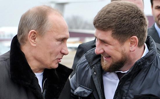 Президент России Владимир Путини глава Чечни Рамзан Кадыров, 2011 год