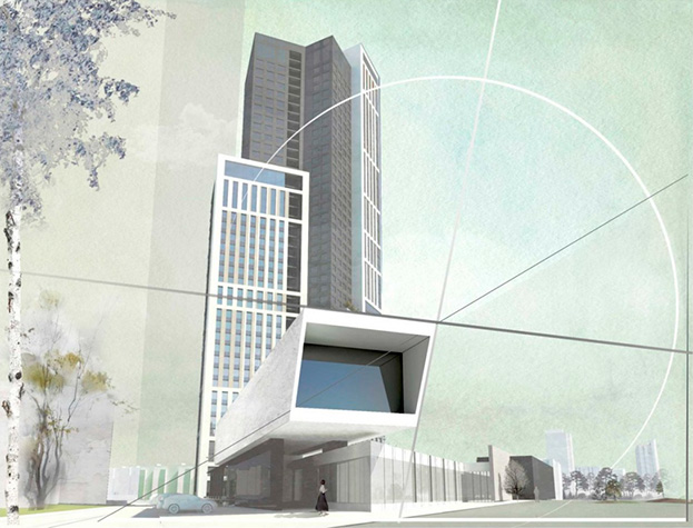 Проект небоскреба в Новосибирске