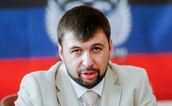 Один из лидеров ополченцев Донбасса Денис Пушилин