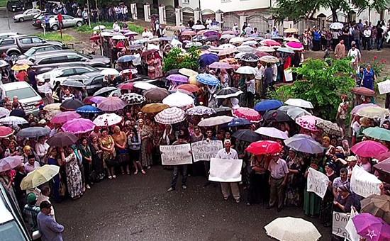 Акция протестау офиса «Комитета против пыток» вГрозном