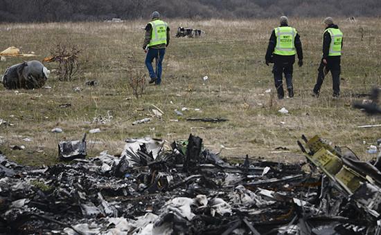 Обломки самолетаBoeing. Архивное фото