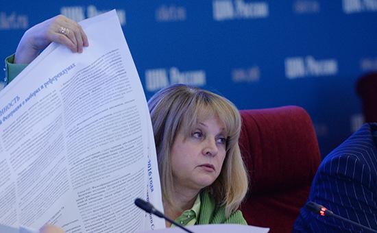 Председатель Центральной избирательной комиссии РФ Элла Памфилова вЦИКе вединый день голосования