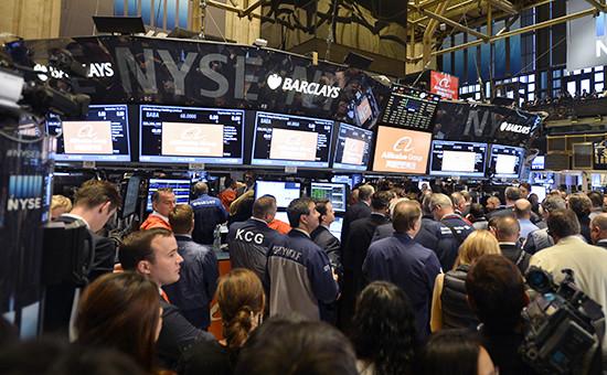 РаботаНью-Йоркской фондовой биржи. Архивное фото