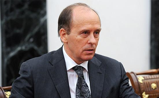 Глава ФСБ Александр Бортников на совещании с постоянными членами Совета безопасности РФ в Кремле